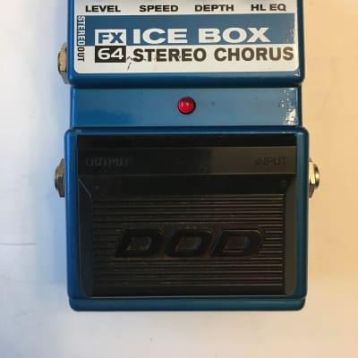 DOD Digitech FX64 Ice Box Stereo Analog Chorus Rare Guitar Effect Pedal for sale
