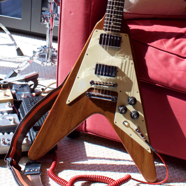 1975 Gibson Flying V (2nd Reissue) Natural Finish w/OHSC - All Original, No Breaks - Video Demo! image