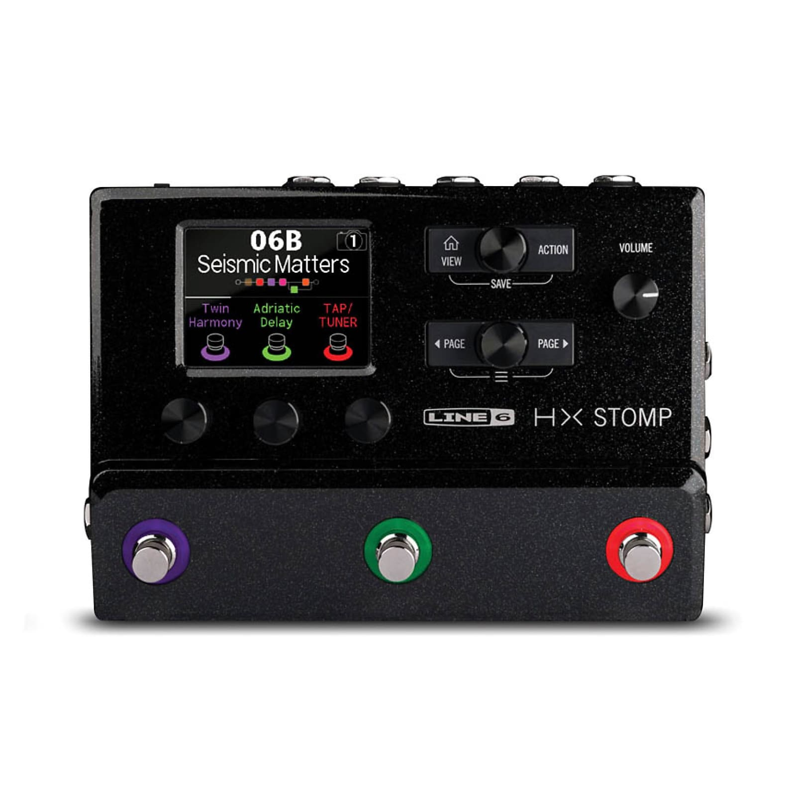 Line 6 HX Stomp Multi-Effects, Compact Professional Guitar Processor (for guitar or bass)
