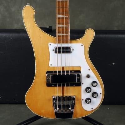 Rickenbacker 1973 4001 Bass - Checkerboard Blonde w/Hard Case - 2nd Hand for sale
