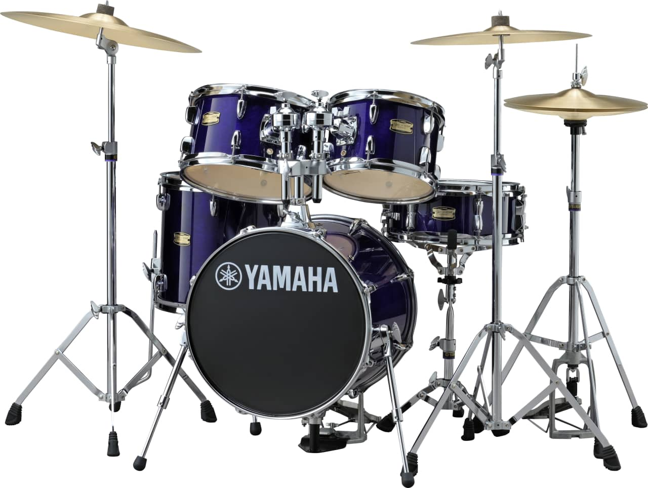 Yamaha Custom Drums With Floor Tom On Stand