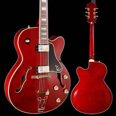 Epiphone ETEPWRGH1 Joe Pass Emperor-II PRO Wine Red Gold Hw 677 7lbs 3.8oz for sale