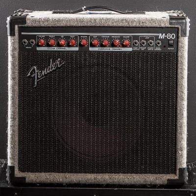 "Fender M-80 2-Channel 80-Watt 1x12"" Solid State Guitar Combo 1989 - 1994"