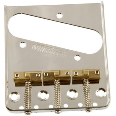 Wilkinson Staggered Saddle Compensated Telecaster Bridge Nickel