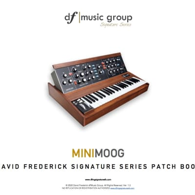 Updated! Moog - df|MG Signature Series Minimoog Patch Book