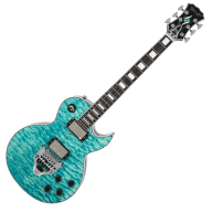 Spear RD300LE Single Cutaway Floyd Rose FRX FR Duncan Emerald Green Quilted Top Electric Guitar
