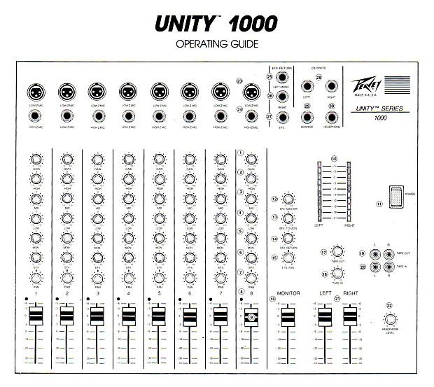 peavey unity series 1000 mixer