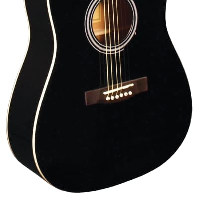 Indiana S-SCOUT-BK Dreadnought Spruce Top 6-String Acoustic Guitar - Black for sale