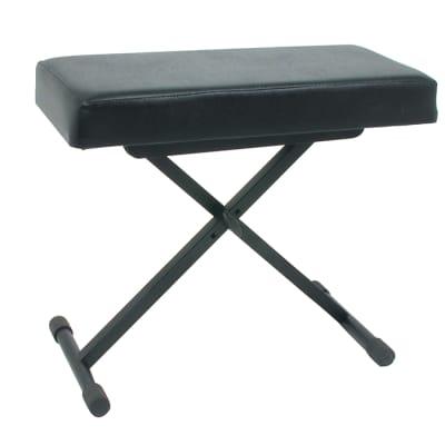 Quik-Lok USA Keyboard Bench Vinyl Seat   3 Height Positions