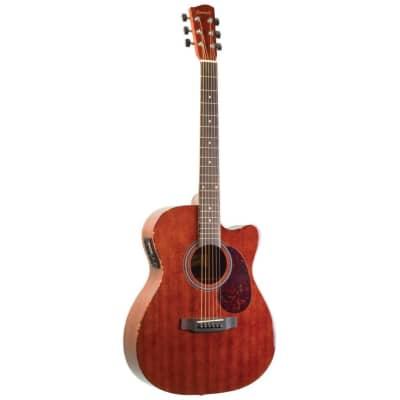 Savannah SGO-16CE Mahogany Top Cutaway 000-Body Acoustic Electric Guitar, Natural for sale