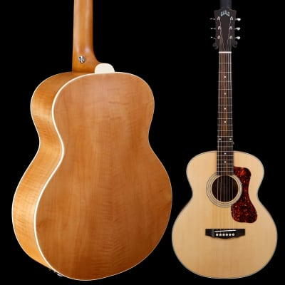 Guild Jumbo Junior Flamed Maple, Antique Blonde 430 3lbs 14.2oz for sale