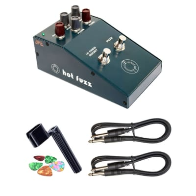 New BAE Audio Hot Fuzz Hybrid Fuzz and Treble Boost Guitar Pedal + Free Guitar Accessories!