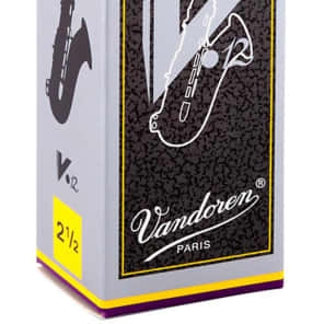 Vandoren SR6225 V12 Series Tenor Saxophone Reeds - Strength 2.5 (Box of 5)