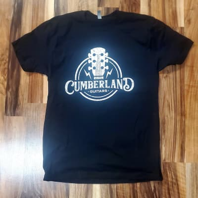 Cumberland Guitars Distressed T-Shirt - Black - Small S