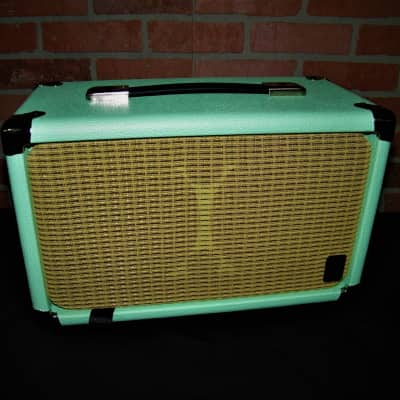 EarCandy Mini 2x6 Guitar amp speaker cab 100 watts 8 ohm Left & right 4 Ohms mono  Surf Green