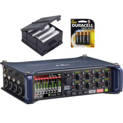 Zoom F8n Multi Track Field Recorder With BCF-8 battery case and batteries