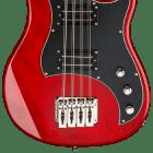 Hagstrom HB8 8 String Short Scale Bass Wild Cherry Transparent image