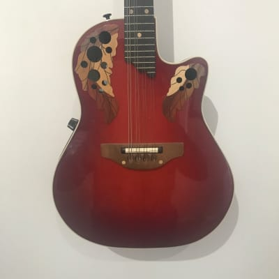 Ovation MM68 Mandolin 1995 USA Cherry Burst with Case for sale