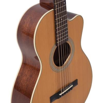 Recording King RP1-16C Schoenberg Torrefied Adirondack Spruce Top Guitar, 0 Body Cutaway