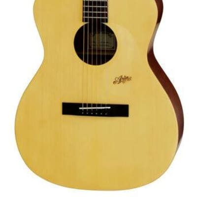 Aria MF200 Mayfair Series Folk Body Acoustic Guitar in Matt Natural for sale