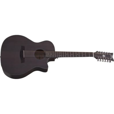 Schecter Orleans Studio-12 Acoustic, 12 String, Satin See-Thru Black for sale