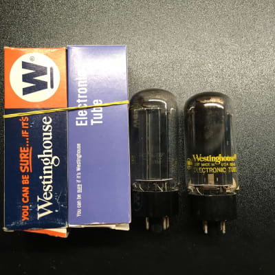 Westinghouse Lot of Two 5U4GB Rectifier Tubes  Tested New Old Stock USA Made Vintage