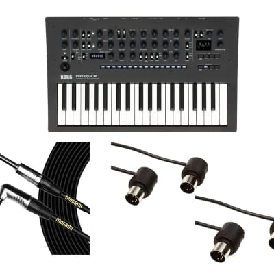 Korg Minilogue XD + Mogami Cable + MIDI Cables