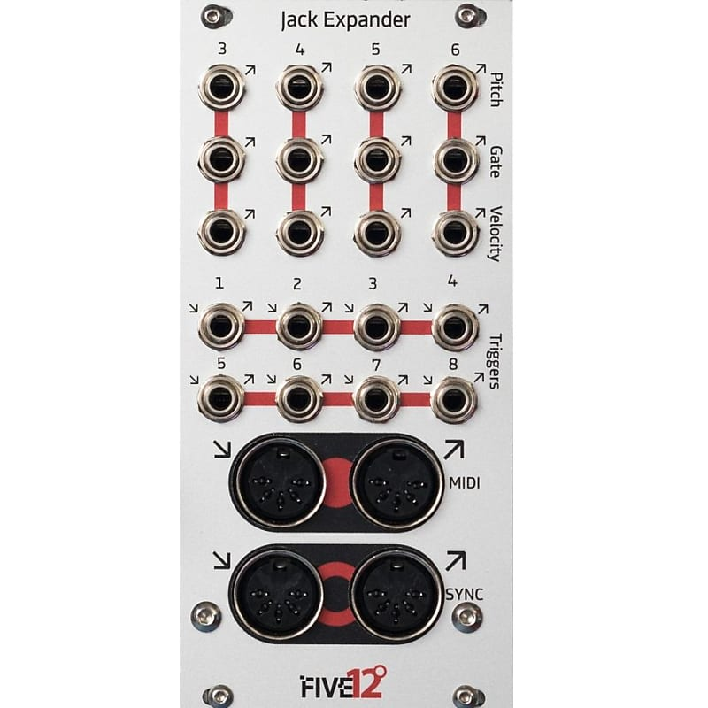 five12 jack expander  extra midi  trigger and cv  gate outs