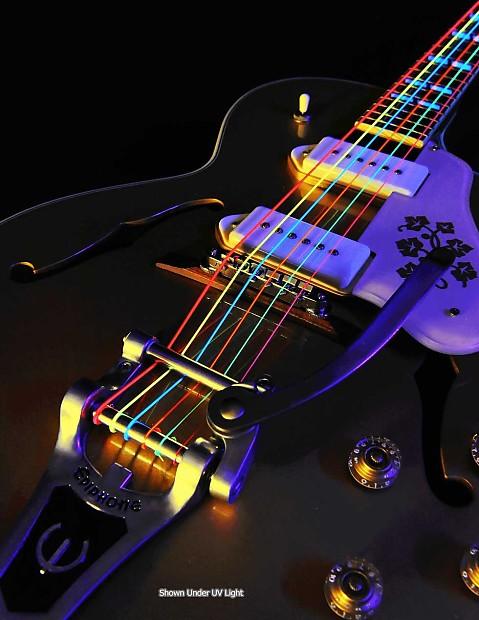 DR Guitar Strings 3 Sets Electric Neon Multicolor 9-42 Lite