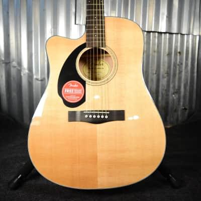 Fender CD-60SCE Left-Hand, Natural (Floor Model)