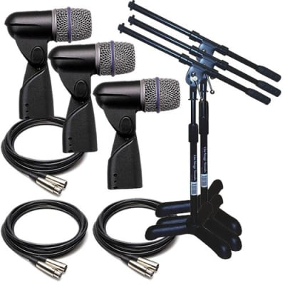 Shure Beta 56A Dynamic Drum & Instrument Microphone TRIPLE PERFORMER PAK