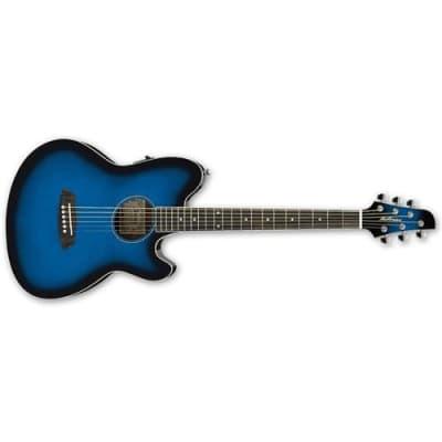 Ibanez Talman Series TCY10E Acoustic Electric Guitar, Rosewood Fretboard, Transparent Blue Sunburst High Gloss for sale