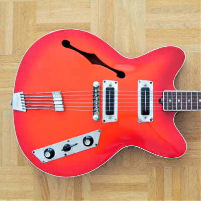 Jolana Rubin ES-330-style guitar ~1965 made in CSSR Eastern Bloc vintage! for sale