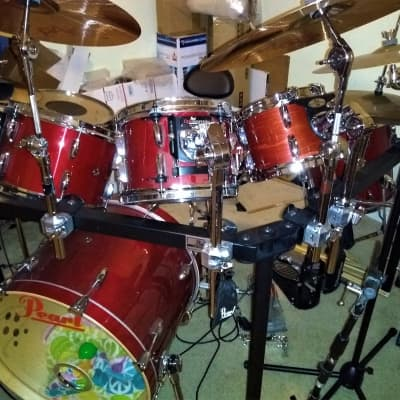 PEARL Session Studio Classic Kit+RACK+PAISTE PST-7set+EXTRAS Sequoia Red Lacquer