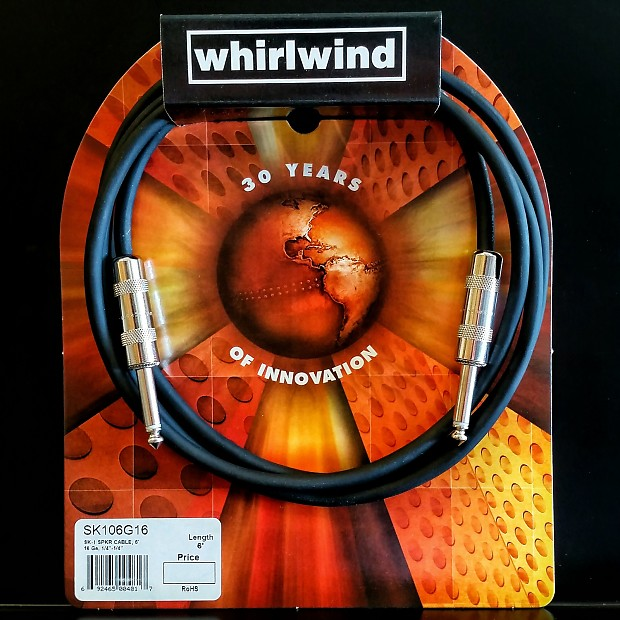 Whirlwind Sk106g 6 Ft Speaker Cable Cord Amplifier Head