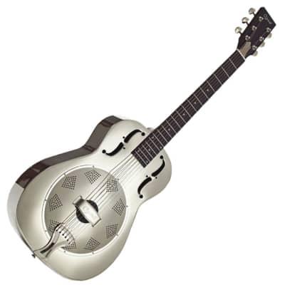 Ozark 3515N Metal Resonator Guitar - Nickel Plate for sale