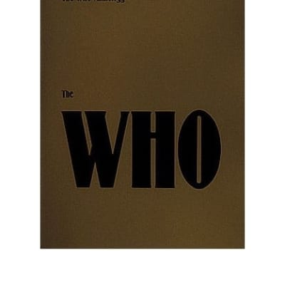 The Who: The Who Anthology: Piano, Vocal and Guitar