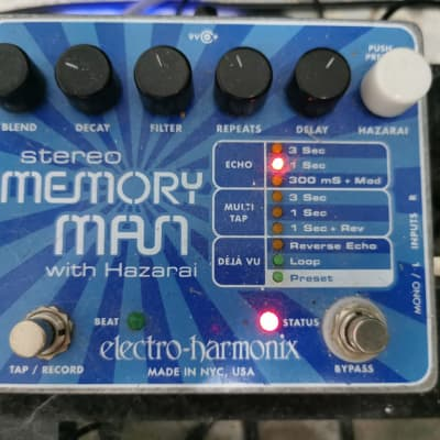 Electro-Harmonix Electro Harmonix Memory Man Stereo With Hazarai  Blue for sale