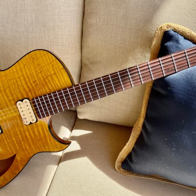 Marchione Semi-Hollow Maple / Mahogany Guitar --   Brazilian Rosewood Fingerboard -- Ships Free for sale