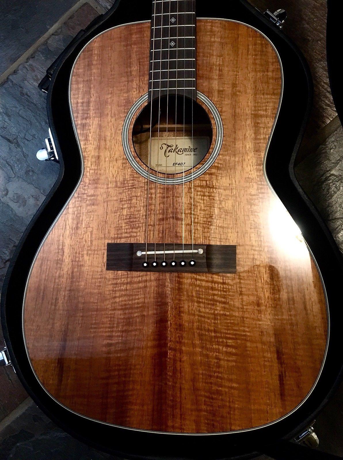 Takamine Ef407 Legacy Series Acoustic Guitar In Gloss Natural Finish Guitars & Basses