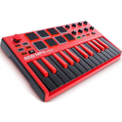 Akai Professional MPK Mini mkII 25-Key MIDI Controller - Limited Edition Red