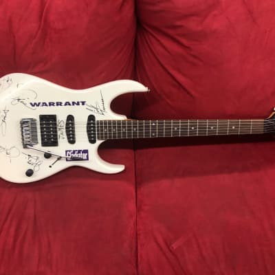 Ibanez EX Series SSH White Signed by  Steve Vai and Warrant! w/ Deluxe Gig Bag for sale
