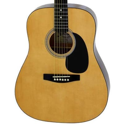 Aria Fiesta Series Dreadnought Acoustic Guitar in Natural for sale