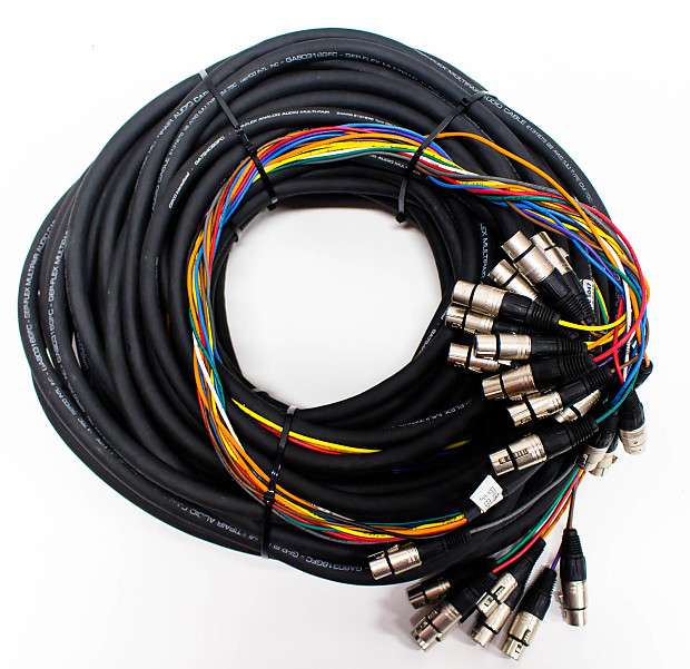 Custom 24 Channel 120' FT Snake Cable - XLR Female to Elco Male