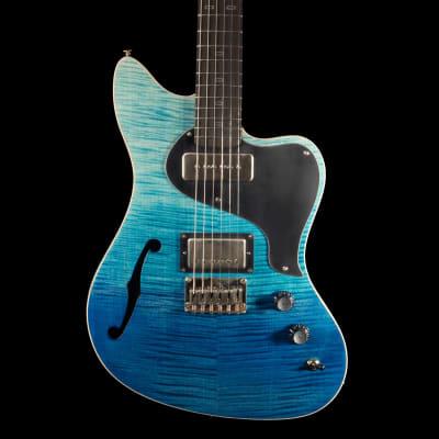 PJD St John Limited w/ F-hole Guitar in Royal Blue Dragon Burst for sale