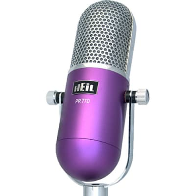 Heil Sound PR 77DP Large-Diaphragm Dynamic Microphone (Purple Body) 885936797725
