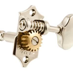 NEW - Grover V97-18NA 3x3 Sta-Tite Tuning Keys, Scalloped Buttons - NICKEL