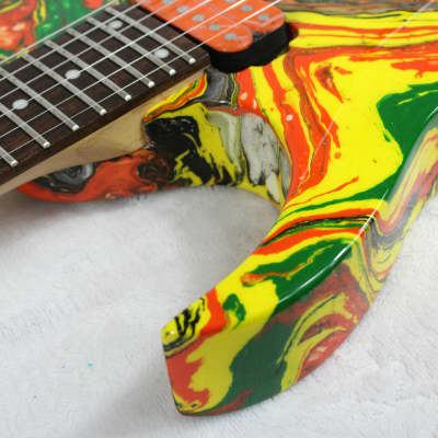 Custom Swirl Painted and Upgraded (LH) Ibanez RG 120L | Reverb