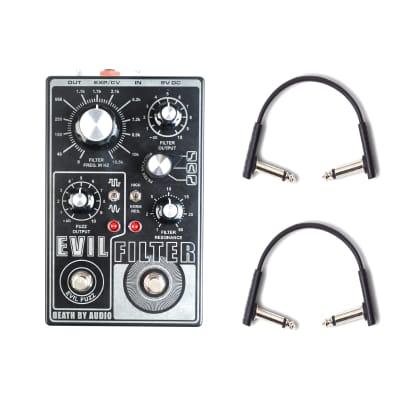 Death By Audio Evil Filter Octave Fuzz w/RockBoard Flat Patch Cables Bundle