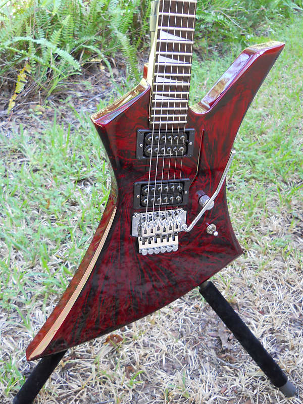 Jackson Kelly KE3-CS Crimson Swirl Guitar Excellent Condition Limited Color Free USA Shipping image